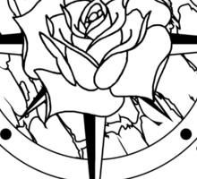 Rose Compass Sticker