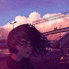 Sunset Railroad by KR0NPR1NZ
