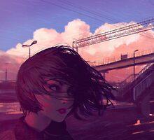 Sunset Railroad by Ilya Kuvshinov