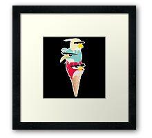 MELTING BIRDS Framed Print