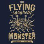 The Flying Spaghetti Monster (dark) by pastafarian