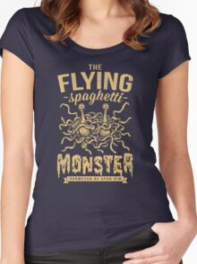 The Flying Spaghetti Monster (dark) Women's Fitted Scoop T-Shirt