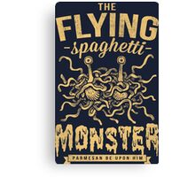 The Flying Spaghetti Monster (dark) Canvas Print