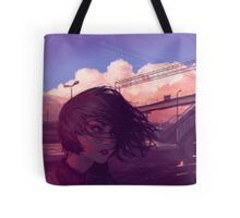 Sunset Railroad Tote Bag
