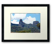 Ancient Times,Warrumbungle Ranges ,Warrumbungles National Park  NSW Australia Framed Print