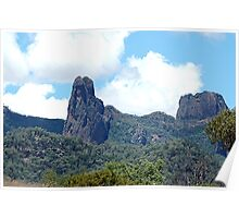 Ancient Times,Warrumbungle Ranges ,Warrumbungles National Park  NSW Australia Poster