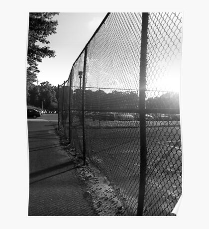 Near the Tennis Courts at SUNY Old Westbury Poster