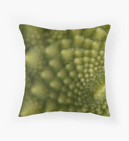 a close look at italian broccoli Throw Pillow
