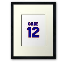 National football player Justin Gage jersey 12 Framed Print