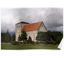 Medieval Pöide Church Poster