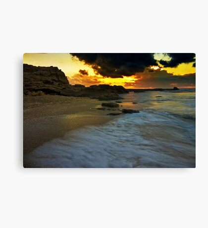 sun sand and clouds Canvas Print
