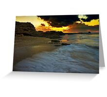 sun sand and clouds Greeting Card