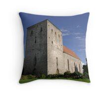 Pöide Church Throw Pillow