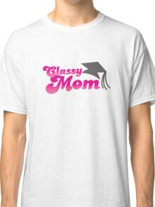 Classy mom with mortar board college hat Classic T-Shirt