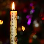 Christmas Advent Candle (Portrait) by Dale Rockell