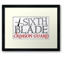 SIXTH BLADE crimson guard  Framed Print