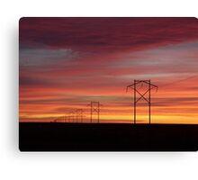 Powerful Sunset Canvas Print