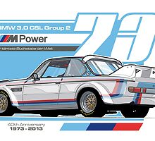 BMW - 3.0 CSL GROUP 2 by Evan DeCiren