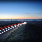 Light Trail at Sunrise by Dale Rockell