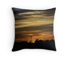 Caramel Colored Sunset Throw Pillow