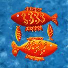 Two Big Fish and Two Small Fish by Julie Nicholls
