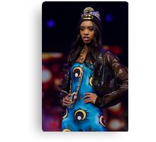 Model on the catwalk at the Clothes Show live 2014 in Birmingham Canvas Print