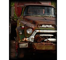 GMC Vintage Cement Truck Photographic Print