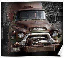 GMC Vintage Cement Truck, Springdale, Utah  Poster