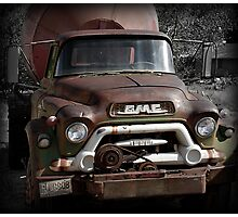 GMC Vintage Cement Truck, Springdale, Utah  Photographic Print