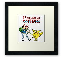 Pokemon Time Framed Print