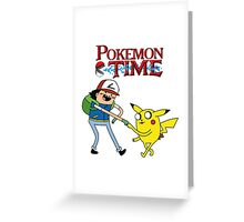 Pokemon Time Greeting Card