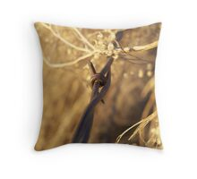 Barbed Wire and Broomweed Throw Pillow