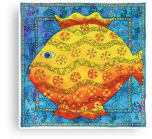 Patterned Fish Canvas Print