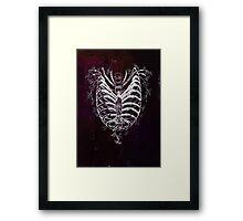 Ribcage Heart Framed Print