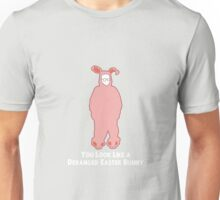 Deranged Easter Bunny (white text) Unisex T-Shirt