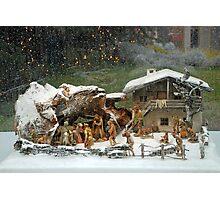 Christmas scene on a rainy day Photographic Print