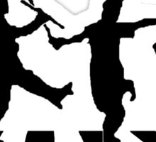 smart crossing (charlie chaplin) Sticker