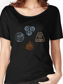 The four Elements Avatar symbols Women's Relaxed Fit T-Shirt