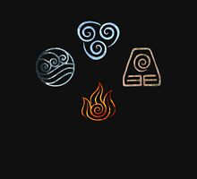 The four Elements Avatar symbols Unisex T-Shirt