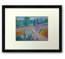 Devon Walled Garden Framed Print