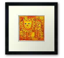 Patterned Lion Framed Print