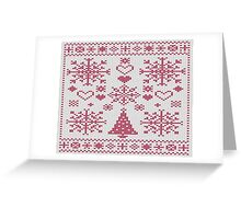 Christmas Cross Stitch Sampler Greeting Card