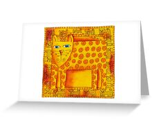 Patterned Leopard Greeting Card