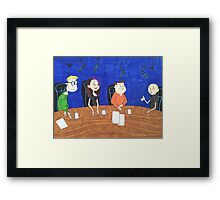 The Ricky Gervais show special guest Framed Print