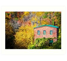 Roswell Mill in Fall Art Print