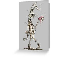 Bugs Zombunny (Sepia) Greeting Card