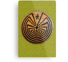 Indigenous Maze Metal Print