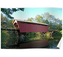 Fairfield county covered bridge Poster