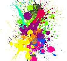 COLORBURST Spatter Print  by Ldarro