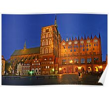 MVP92 Alter Markt Stralsund, Germany. Poster
